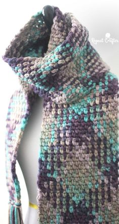 Crochet Planned Color Pooling Scarf | Repeat Crafter Me | Bloglovin'