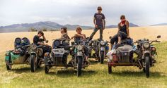 In 2014, a two year journey on a bitch of old Ural 650 motorcycles with sidecars was started by a gr...
