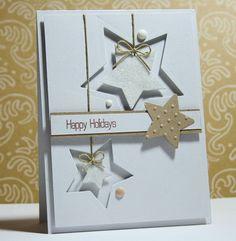 Anhänger zu Weihnachten aus Sternen - Deko für Karten