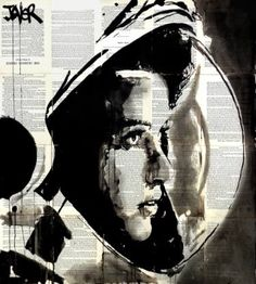 "Saatchi Art Artist Loui Jover; Drawing, ""the astronaut.......................(anna lee fisher)"" #art"