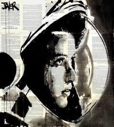"Saatchi Art Artist Loui Jover; Drawing, ""the astronaut.......................(anna lee fisher)"" #art"