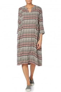7ff01a17f13 Sahara Normandy Check Pleat Dress