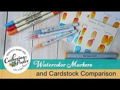 Zig, Distress and Spectrum Aqua Markers and Cardstock Comparison