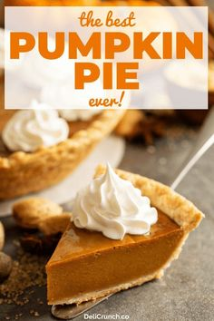 pumpkin pie recipe, the best and easy recipe perfect for the holidays! The best pumpkin pie recipe ever! An easy and simple recipe perfect for all occasions like the coming fall season and Thanksgiving! Classic Pumpkin Pie Recipe, Perfect Pumpkin Pie, Easy Pumpkin Pie, Pumpkin Pie Bars, Homemade Pumpkin Pie, Pumpkin Pie Recipes, Pumpkin Dessert, Pumpkin Pie From Scratch, Pumpkin Pie Recipe With Brown Sugar