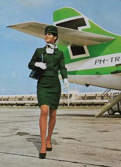 "Dutch airlines ""Transavia"" with SE-210 Caravelle 6R #vintage"