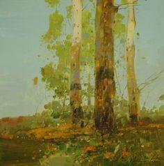 Birches, Original oil painting, Impressionism, traditional art