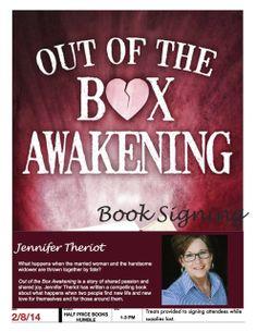 Jennifer Theriot OOBA!  Out of the Box Awakening http://www.amazon.com/Out-Box-Awakening-Jennifer-Theriot-ebook/dp/B00CNX3MU2/ref=sr_1_1?ie=UTF8&qid=1397782253&sr=8-1&keywords=out+of+the+box+awakening