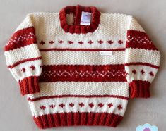 Baby Boy Knitting, How To Make Clothes, Sweater Knitting Patterns, Crochet Art, Baby Sweaters, Men Sweater, Fashion, Child Fashion, Boys Sweaters