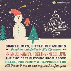 Simple joys, little pleasures, laughter and smiles-Christmas Greetings