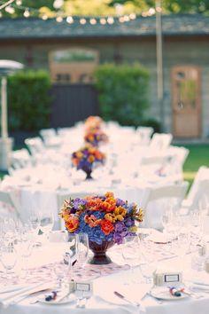 hydrangea and orange flowers composition