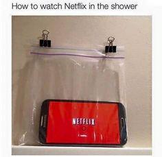 Yogurt Covered Strawberries, Watch Netflix, Imagines, Shower, Rain Shower Heads, Hacks, Life, Showers