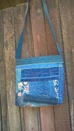 """Купить Сумочка в стиле бохо """"Туман осеннего утра"""". - джинсовый стиль, сумка ручной работы"""