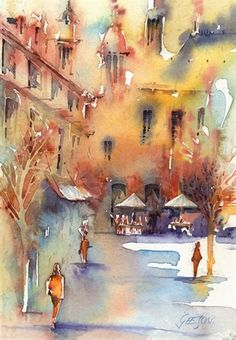 watercolor by Andrew Geeson