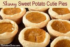Skinny Sweet Potato Cutie Pies | Sweet, Smooth, Creamy, Rich | Only 177 Calories | Made with @egglandsbest  client | For MORE RECIPES, fitness &nutrition tips please SIGN UP for our FREE NEWSLETTER www.NutritionTwins.com