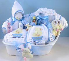 Baby Boy Bath Time Gift Tub from Baby Gifts and Gift Baskets