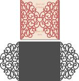Laser Cut Envelope Template For Invitation Wedding Card - Download From Over 53 Million High Quality Stock Photos, Images, Vectors. Sign up for FREE today. Image: 73943466