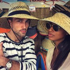 """""""Si or no? #BoatDay"""" Jasmine Tookes and Tobias Sorensen"""