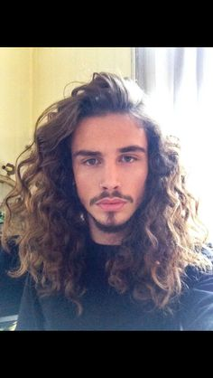 Curly Mane Hairstyle Click image for info. Long Curly Hair Men, Long Natural Hair, Hair And Beard Styles, Curly Hair Styles, Natural Hair Styles, Choppy Bob Haircuts, Haircuts For Men, Moustache, Red Hair Men