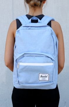 backpacks Herschel - Pop Quiz Laptop Backpack - Chambray from Mochila Herschel, Herschel Rucksack, Cute Backpacks For School, Cool Backpacks, Backpack Purse, Laptop Backpack, Chambray, Cute School Supplies, Tumblr Outfits