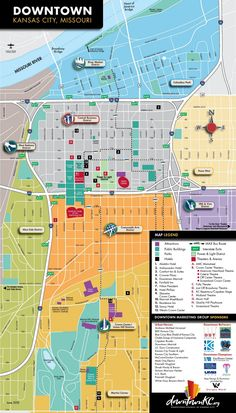 What to See in Kansas City Missouri Tourist map Kansas city