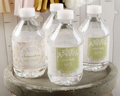 Personalized Water Bottle Labels - Rustic Baby Shower Collection
