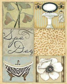 Spa Day Bathroom PRINT by Jo Moulton Poster Art 8x10 Buya... https://www.amazon.com/dp/B00HUARLB4/ref=cm_sw_r_pi_dp_x_u64.ybEDHW1JK #buyartforless