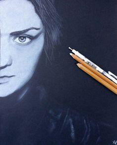 #AryaStark #pencildrawing  #blackandwhite #drawing #portrait #realistic #got #gamesofthrones #MaisieWilliams