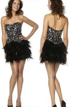 Gorgeous little feather prom dress!
