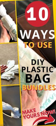 DIY & Crafts For Plastic Grocery Bags - Looking for ways to reuse plastic bags? ALSO want to make your own diy plastic bag holder/dispenser for all of your saved plastic bags? Well, look no further... I've got the easiest steps to make your own plastic bag bundles right here! PLUS 10 ways to use your diy plastic bag rolls at home... and when you're out & about. Clever ways to use plastic grocery bags without stuffing them in a drawer or cabinet to be forgotten about. Diy Plastic Bag Holder, Reuse Plastic Bags, Plastic Bag Dispenser, Plastic Shopping Bags, Plastic Grocery Bags, Diy Camping, Camping Hacks, Diy Rv, Diy Home Crafts
