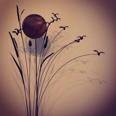 """Anne K Imbert - """"Balade en baie de Somme"""" #annekimbert #samagra #art #bronzesculpture #sculpture #birds #suspendedsculpture #artcontemporain #contemporaryart"""