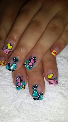 * Love Nails, My Nails, Cruise Nails, Luminous Nails, Exotic Nails, Butterfly Nail, Pretty Nail Art, Toe Nail Designs, Green Nails
