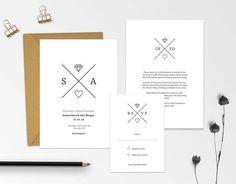 Wedding Invitations Template  Printable Wedding Invites Set