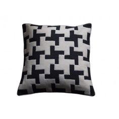 Geometric Crosses Wool Applique Cushion