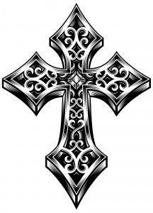 Free Cross Tattoo Patterns Narwal tattoo, done by me Christian Lanouette at t. Tribal Cross Tattoos, Celtic Cross Tattoos, Cross Tattoo Designs, Bff Tattoos, Weird Tattoos, Body Art Tattoos, Cool Tattoos, Kreutz Tattoo, Pattern Tattoos