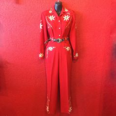 1940s Western Suit Rodeo Vaquero Red by THEGIRLCANTHELPITUSA, $1350.00