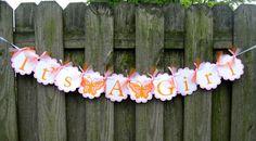 Baby Shower Banner  It's A Girl  Pink and Orange by ElegantEvee, $18.50