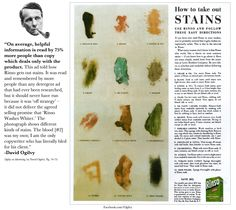 """""""How to take out STAINS""""- Classic Ad by David Ogilvy... #Strategy #ClientsComeFirst Swipe File, Best Ads, Small Business Marketing, Copywriting, Print Ads, Home Remedies, Advertising, Inspiring Quotes, Business Ideas"""