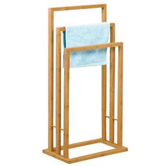 Porte serviettes 3 barres en bambou