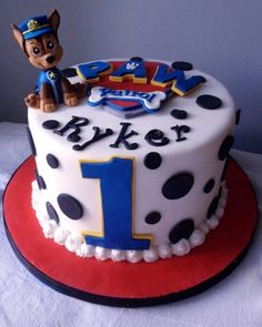 step by step chase paw patrol cake topper Bolo Do Paw Patrol, Paw Patrol Torte, Paw Patrol Chase Cake, Paw Patrol Cupcakes, 2nd Birthday Parties, Birthday Fun, Birthday Ideas, Birthday Decorations, Birthday Cakes
