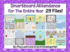 This bundle will save you tons of time and stress! This mega pack contains 29 different interactive, animated themed attendance pages that add a l. Kindergarten Readiness, Kindergarten Classroom, School Classroom, School Fun, Classroom Design, School Ideas, Classroom Ideas, Organization And Management, Classroom Organization