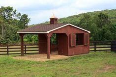 Horse Barn with Overhang 10 Mini Horse Barn, Simple Horse Barns, Mini Barn, Horse Shed, Horse Barn Plans, Horse Stalls, Small Barn Plans, Small Barns, Horse Barn Designs