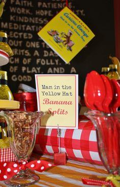 Banana Split Bar-curious george and the ice cream shop
