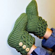 Crochet Crocodile Stitch Boots / Booties / Slippers - Adult Sizes  - Made to Order - Free Shipping
