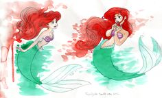 Ariel - The Little Mermaid Water Color