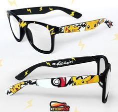 Pokemon glasses  Custom Wayfarer clear lens geeky by ketchupize, €37.00