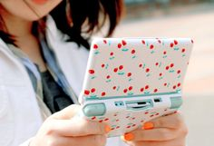 cherry, nintendo and nintendo ds image on We Heart It Nintendo Ds, Super Nintendo, Geek Room, Cute Games, Cute Gif, Video Game Console, Animal Crossing, Just In Case, Videogames