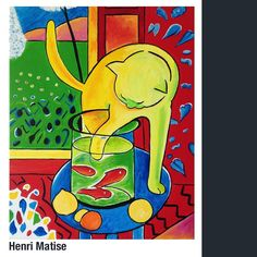 Hand Painted Henri Matisse The Cat With Red Fish Painting Reproduction On Canvas Henri Matisse, Matisse Paintings, Your Paintings, Fit Girl Motivation, Glass Cutting Board, Red Fish, Pictures To Paint, Goldfish, Accent Pieces