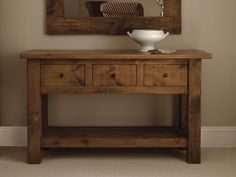 Plank Console Table, handcrafted by Indigo Furniture Rustic Wood Furniture, Handmade Furniture, Wooden Dining Tables, Entryway Tables, Indigo Furniture, Square Tables, Plank, Peak District, Interior Design