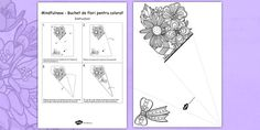 * NEW * Mindfulness Colouring Flower Bouquet Romanian