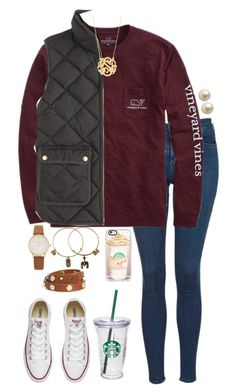 """Halloween contest entry one RTD"" by lbkatie17 on Polyvore featuring Topshop, Vineyard Vines, J.Crew, Converse, Carolee, BaubleBar, Kate Spade, Starbucks, Tory Burch and Casetify"